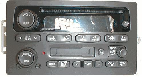 Trailblazer Envoy 2005+ CD Cassette BOSE radio 10359573 NEW