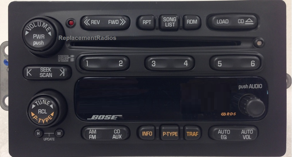 Trailblazer Envoy Bravada 2002 Cd6 Bose Radio 15169546 Reman 15058231 P 335 on dodge intrepid radio wiring diagram