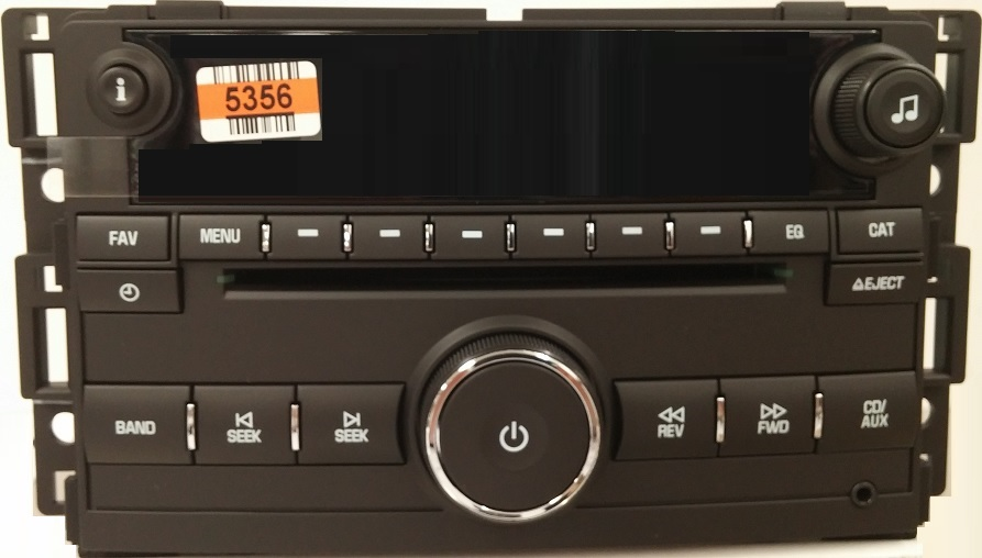 hhr 2009 2011 cd mp3 delco black us8 radio 20835356 new. Black Bedroom Furniture Sets. Home Design Ideas
