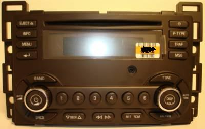 P And W BMW >> G6 2008-2009 UBJ CD XM ready radio w/ Front Aux 25890719 NEW