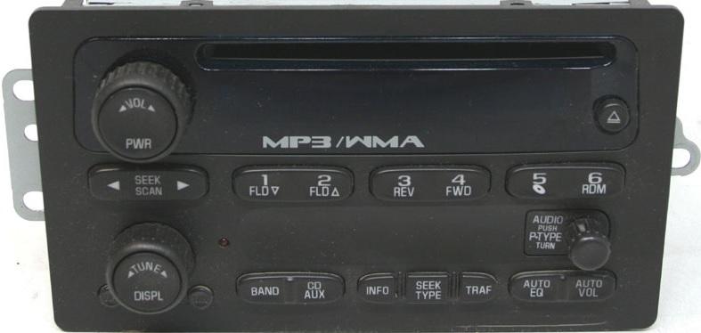 Colorado Envoy Trailblazer 2005 Cd Mp3 Wma Xm Ready Radio