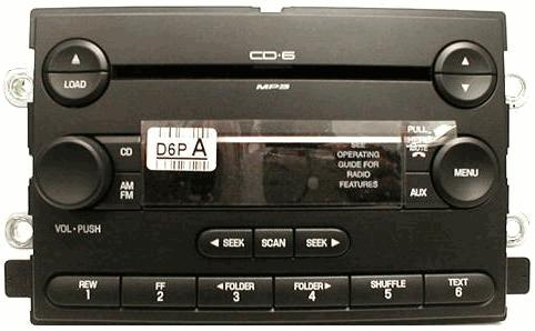 F150 Mark LT 2004-06 CD6 MP3 Audiophile radio 5L3T-18C815-GG NEW