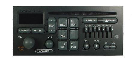 Pontiac 1992-2003 CD radio w/ EQ