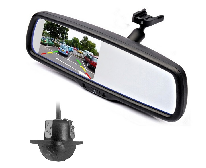 rear view mirror 4 3 inch lcd monitor back up video. Black Bedroom Furniture Sets. Home Design Ideas