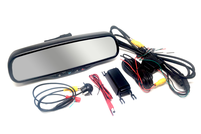 BlueLink rear view mirror: 4 3 inch LCD monitor & back-up camera