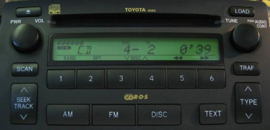 Corolla 2003 2006 Cd6 Radio W Built In Amp 6cd Cd 6
