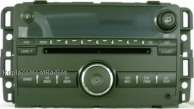 Buick Lucerne 2010 CD6 MP3 US9 radio 20887349 *NEW*