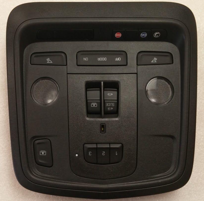 Cadillac XTS 2015+ Black Console With Homelink Garage Door