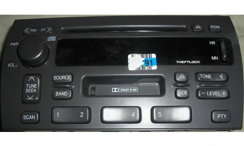 Deville Seville 2002 Cd Cassette U1r Radio 25739872 Reman