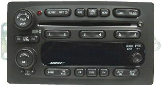 chevy10359565c6 trailblazer envoy 2005 2006 cd6 xm ready bose radio  at virtualis.co