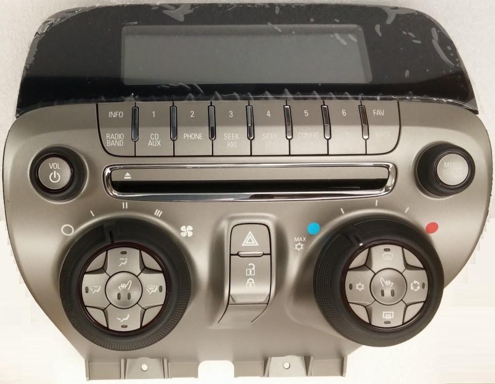 Camaro 2010-2012 CD radio faceplate NEW blem