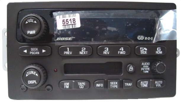 Chevy Express Van >> 15058226 Trailblazer Envoy 2002-2003 CD Cassette radio ...