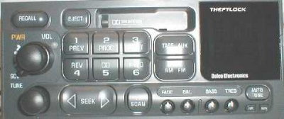 GM 1994-2002+ cassette radio (cars/vans/light trucks) 15071243