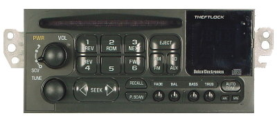 GM 1994-2002 CD radio w/CDC (cars/vans/light trucks)