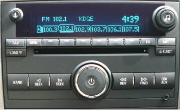 Buick Lucerne 2006-2007 CD6 MP3 radio