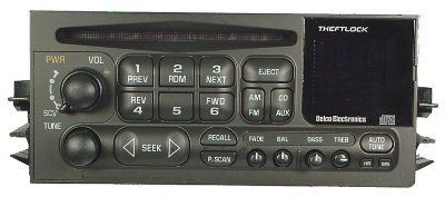 Gm 1995 2002 Cd Radio Fullsize Trucks Vans Suvs