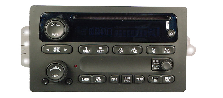 GM 2003-2005* CD XM ready radio (Trucks/SUVs) 15104155 10357894