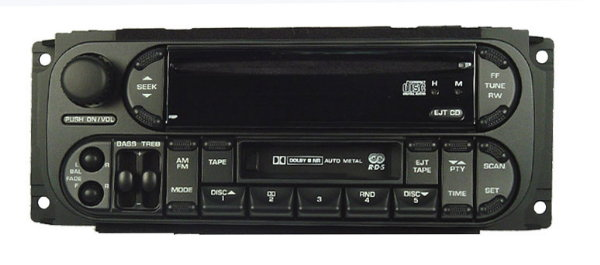 Chrysler 1998-2007 CD Cassette radio Satellite ready (RBP) 'oval