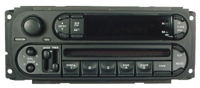 Chrysler 1998-2007 CD radio (RBK) 'oval'
