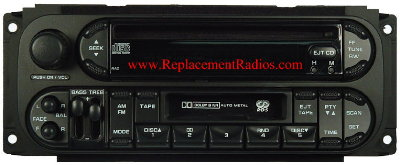 Chrysler 1998-2007 CD Cassette radio w/RDS (RAZ) 'oval'