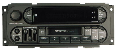 Chrysler 1998-2002 Cassette radio w/CDC *NEW* (oval twin plug)