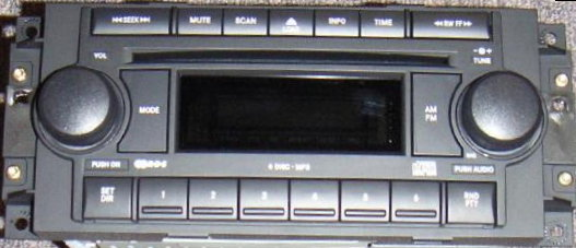 Chrysler 2004-2008 CD6 MP3 radio (RAQ)
