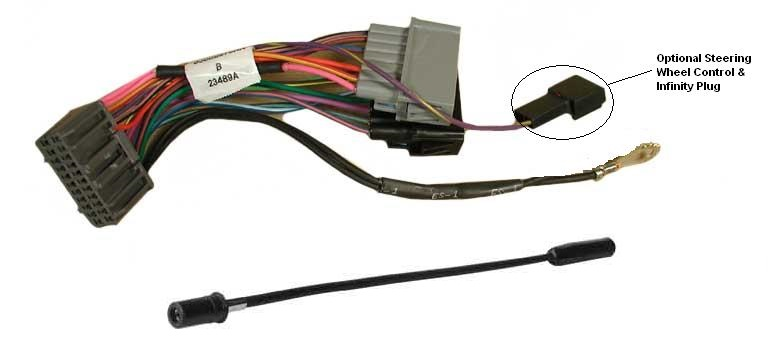 Chrysler Wiring Adapter: 2002+ radio TO 1998-2002 vehicle