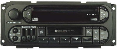 Sebring/Stratus coupe 2001-2005 CD Cassette Radio (twin plug)