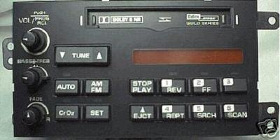 Corvette 1990 1996 Bose Gold Cassette Radio Face New