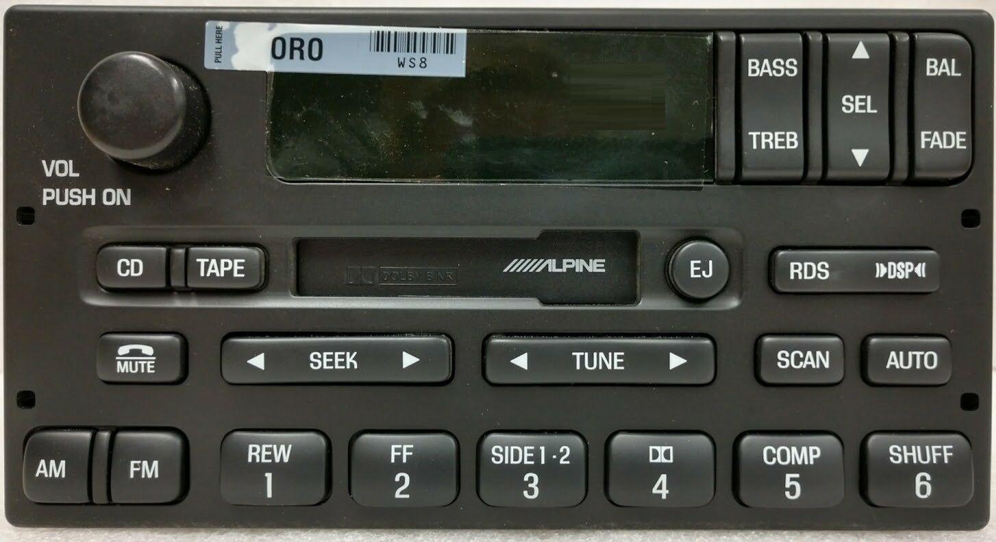 Ford Expedition 1999  Cassette Radio Alpine Cdc  Rds Reman