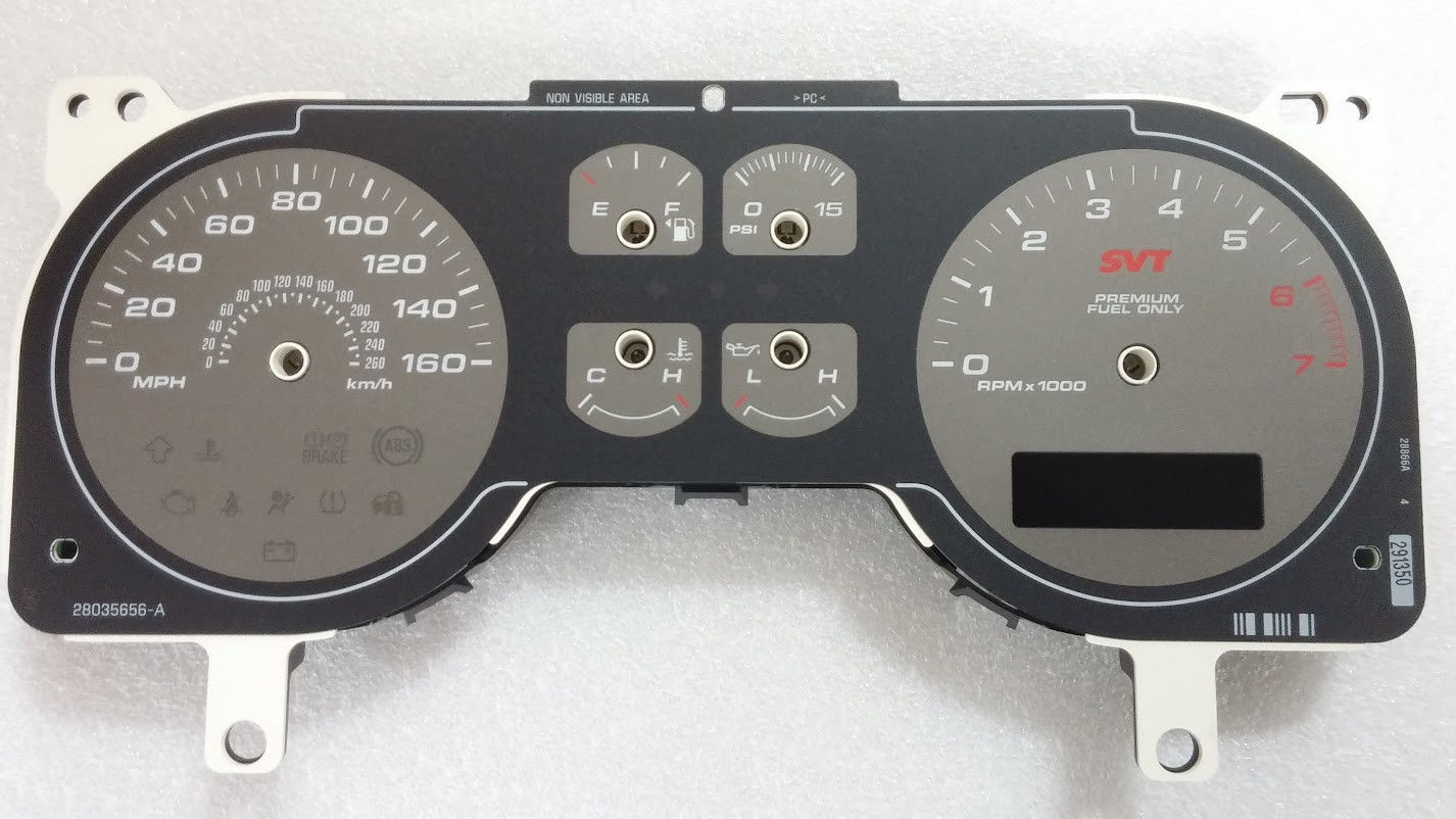 Ford Mustang Svt Gauges With Overlay on Dodge Daytona