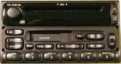 Ford 1998-2008+ CD Cassette radio w/ CDC