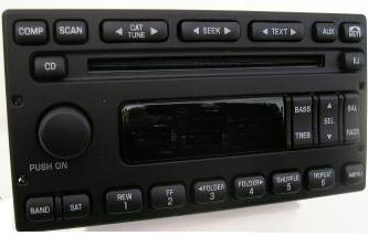 Ford 1998-2008 CD MP3 SAT rdy radio (side clip mount)