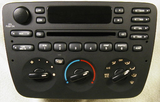 Taurus Sable 2004-07 CD radio w/ CDC & Airbag Ind