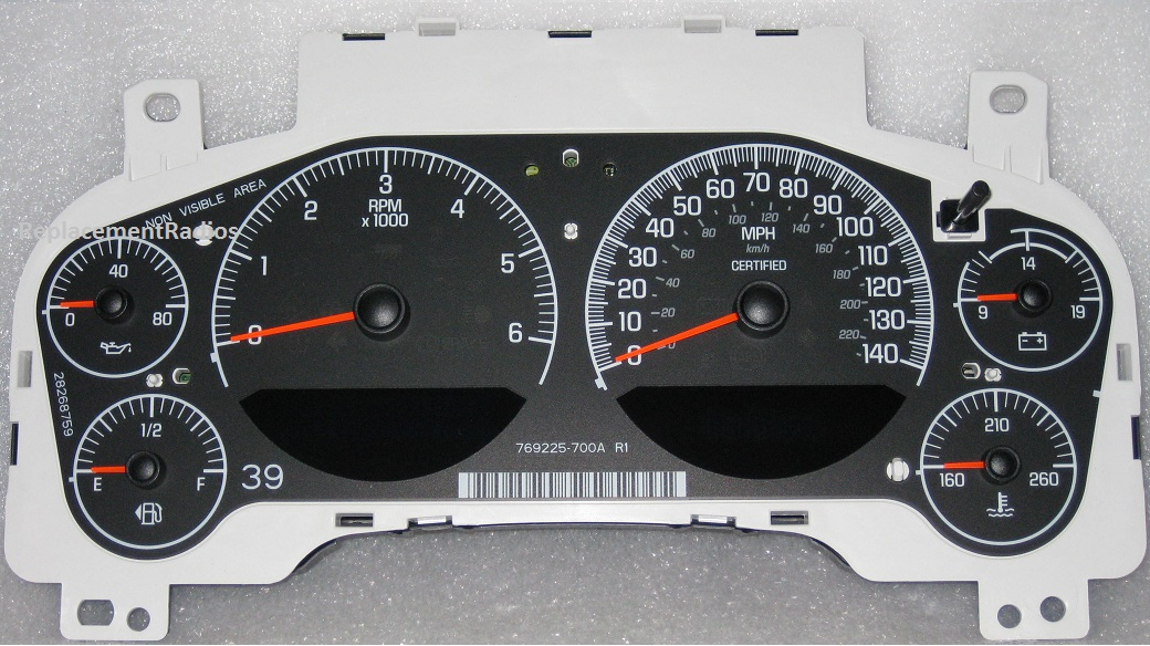 Gm Instrument Gauge Cluster 20964197 New