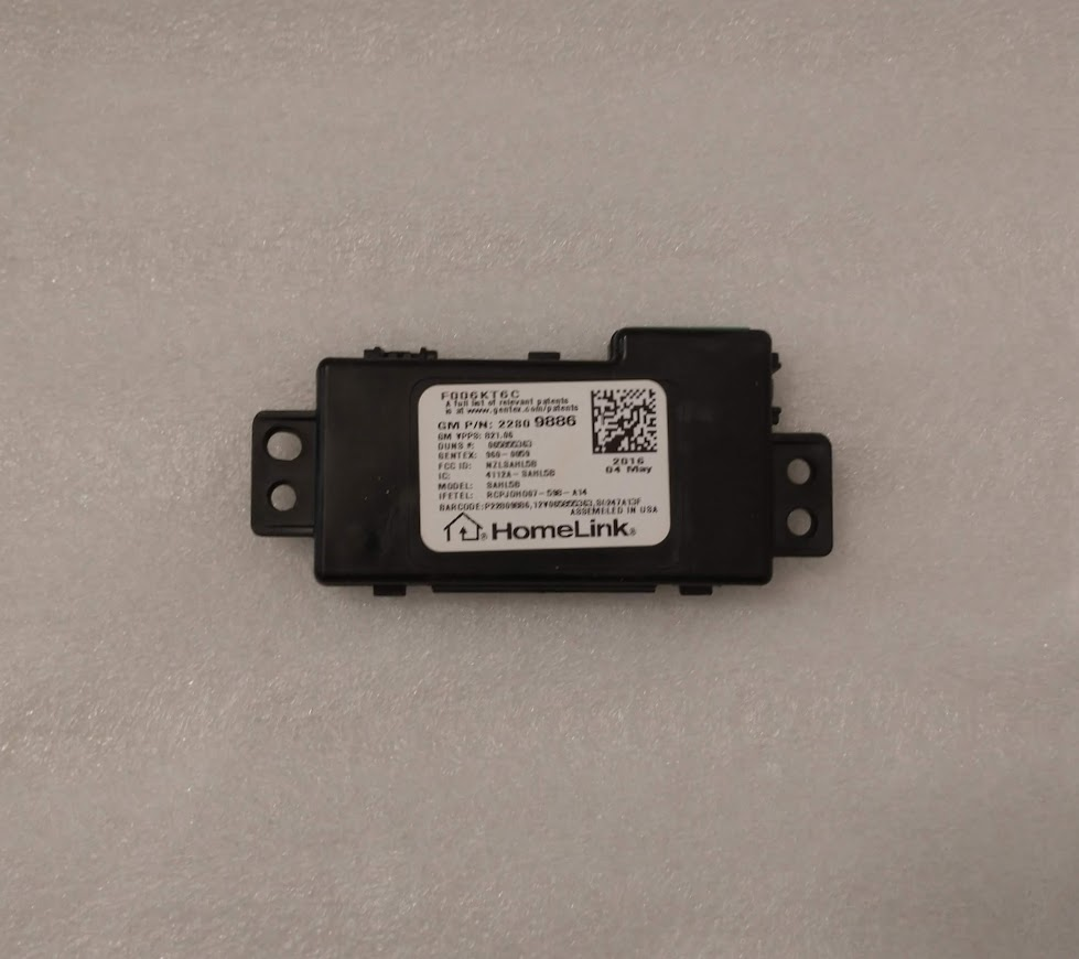 GM 2014+ Homelink Control Module From Overhead Console NEW