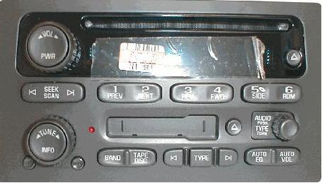 GM Radio Face & Display/Control Board: 03+ Truck/SUV CD/Cass NEW