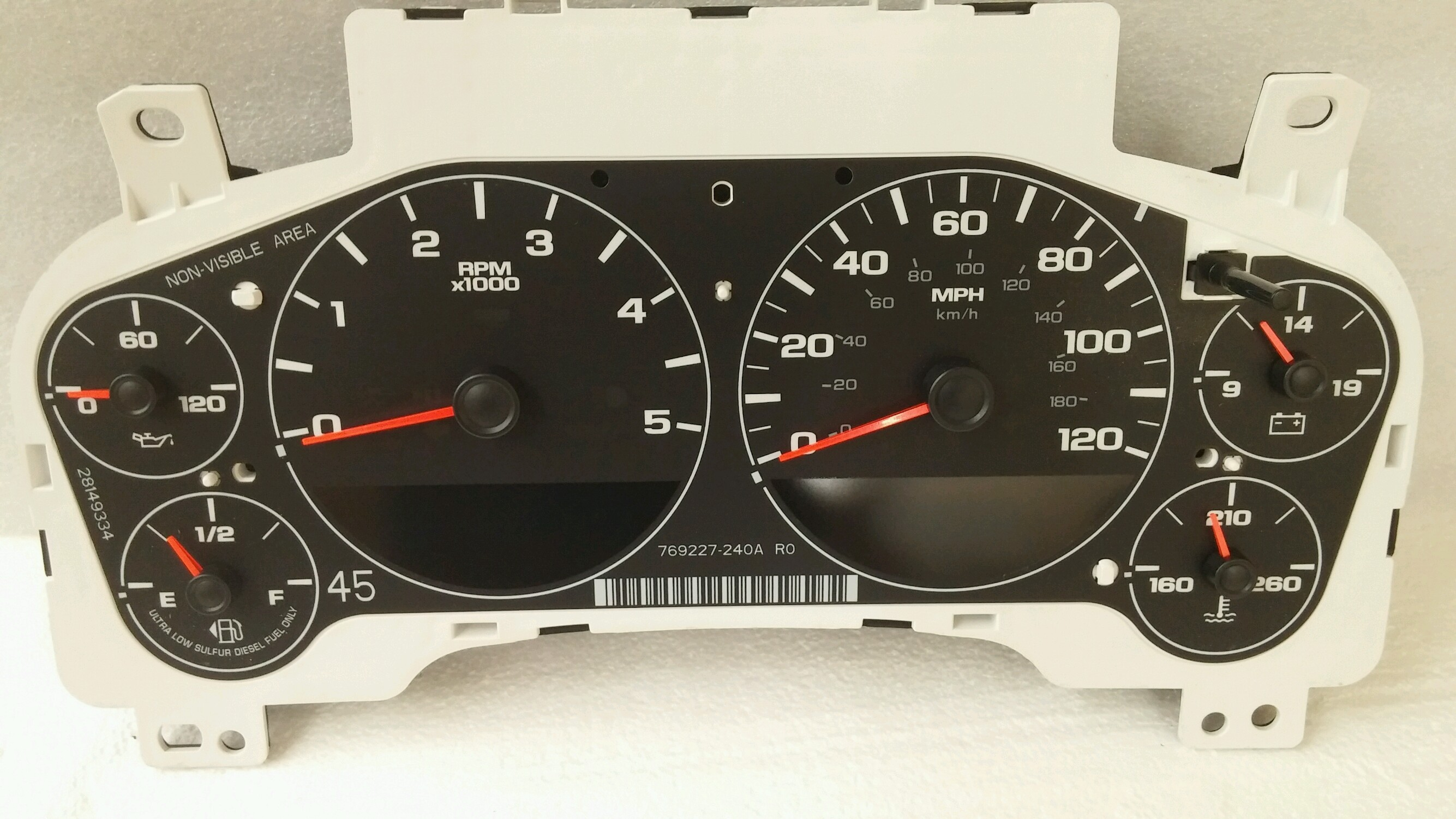 Gm Gauge Cluster Thick Diesel Mph