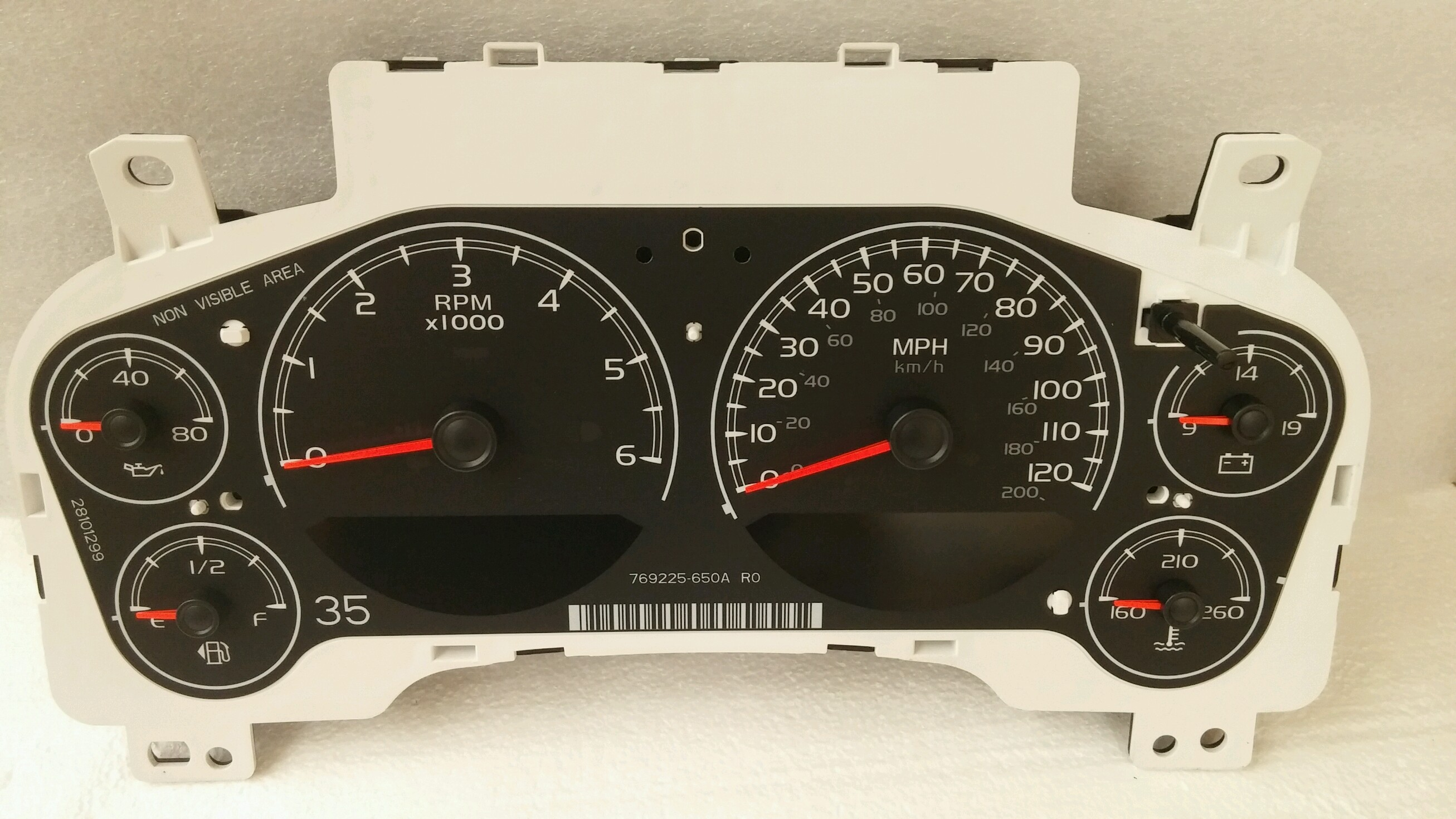 GM instrument gauge cluster gas V8 25933384 20895753