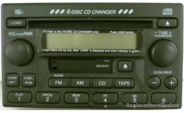 Honda 1998+ CD6 Cassette radio *NEW*
