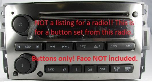 Lacrosse 2005-2009 CD6 radio button /& knob set New OEM 6CD CD 6 stereo parts,