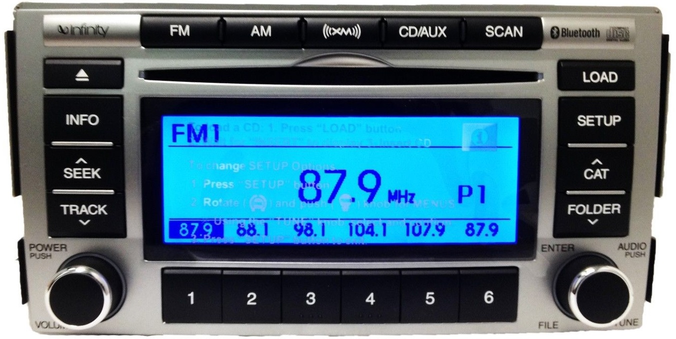Santa Fe 2009 2012 Cd6 Mp3 Xm Bluetooth Infinity Radio New