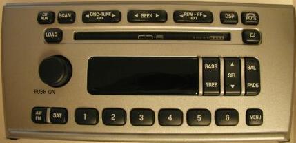 6w4t 18c815 Ah Lincoln Ls 2004 2006 Cd6 Soundmark Radio