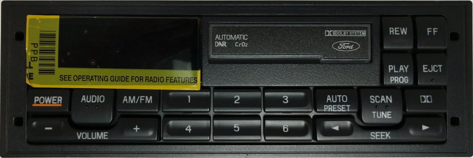 Dodge Town And Country >> Town Car 1993-1994 Cassette radio for Premium Sound REMAN
