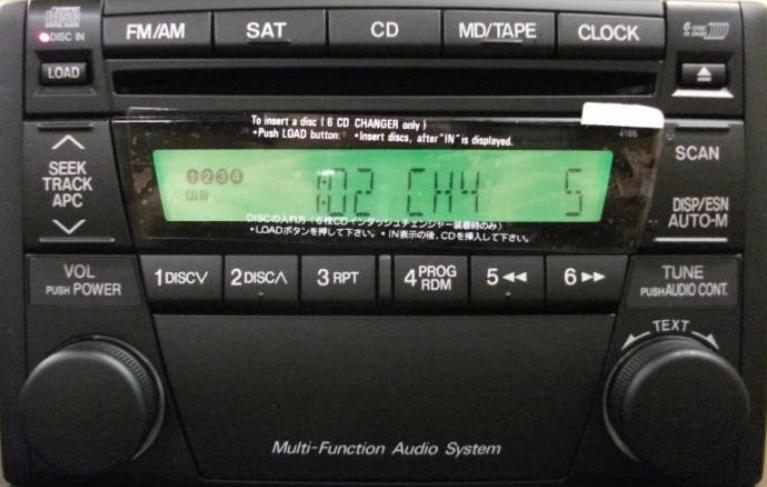 Mazda 20002006 Cd6 Sat Ready Radio Blemrhreplacementradios: Mazda Protege Radio Removal At Gmaili.net