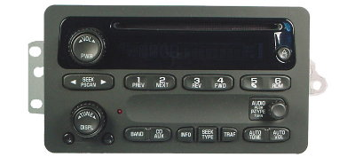 GM 2000+ CD XM ready radio (cars/minivans)