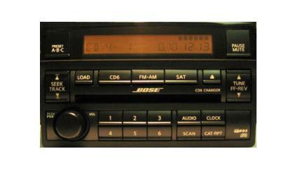 Altima 2005 2006 CD6 BOSE radio (black) 28185-ZB20B