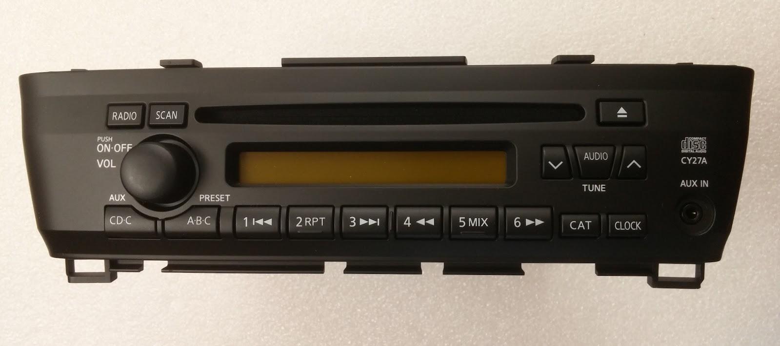 Sentra 2004+ CD radio (7 speaker-180 watt)