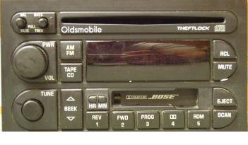 Oldsmobile 1995-2000 CD Cassette radio BOSE