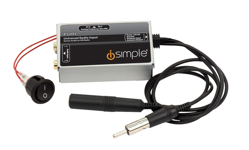 Universal auxiliary audio FM input 4 all radios PAC iSimple IS31
